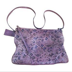 Danier Genuine Leather laser cut purple bag